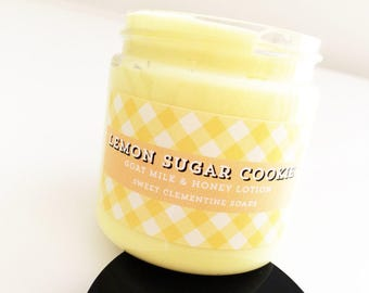 Lemon Cookie Lotion, Hand Lotion, Body Lotion, Goat Milk Lotion, Body Cream, Hand Cream, Lemon Sugar Cookie Hand and Body Moisturizer
