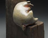 Corner Beast- a one of a kind ceramic sculpture