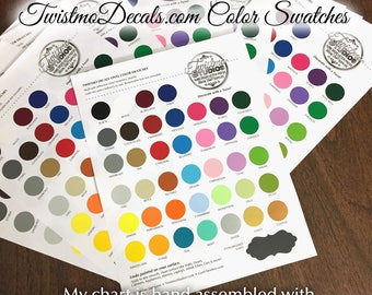 Complete Set of Color Swatches – Twistmo Home Decor Art Wall Vinyl & Chalkboard Vinyl