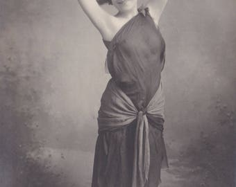 Lyonelle as Salome. Autographed with Dedication. Promotional RPPC by Louis Martin of Paris.