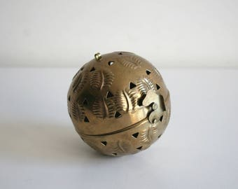 SALE Brass Incense Potpourri Hanging Ball