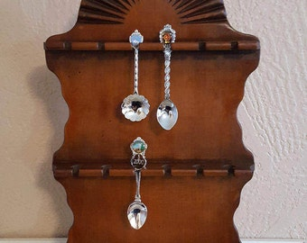 Spoon Rack Shelf - Display Souvenir Spoons - Oak Hill Vintage