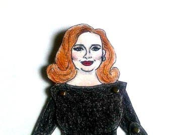 DIY Adele Articulated Paper Doll