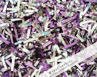 Pantone, Ultra Violet, Stock Photo, Color of the Year, Social Media Styled Stock Photo, Purple, Silver, Confetti, Flat Lay, Digital Image