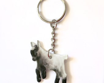 Pygmy / Baby Goat Animal Lover Farmer Keychain Accessories