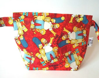 The Simpsons knitting/spinning/crochet/crafting project bag