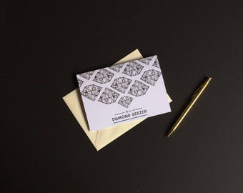 Diamond Geezer Card // Black and White Card - Cards for Dads - Typography Card - Blank Greeting Card - Blank Cards