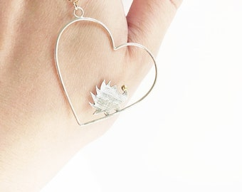 """Sterling Silver Hedgehog Necklace Gold Heart 22 Karat Layer Dainty Layering Hedgie Gold Filled Minimalist Necklace 28"""""""