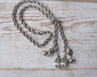 Silver Chain Slide Necklace