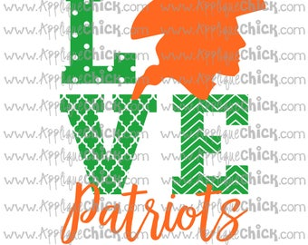 Love Patriots SVG Clipart DXF