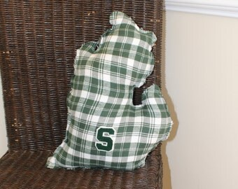"Michigan State ""Mitten"" Pillow"