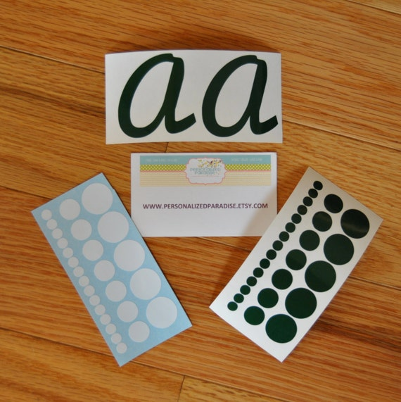 Personalized Vinyl Decal Initials and Polka Dots, Do It Yourself Vinyl Decals, DIY Personalized Wine Glass, Tumbler, Vinyl Decals, DIY Gift