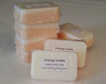 Orange Cream Goats Milk Soap, Homemade Soap, Soap Gift Set, Gentle All Over Soap, Hand Soap, Body Soap, Gift Ideas, Bath and Body