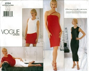 Vogue American Designer 2154 Sewing Pattern by DKNY for Misses' Dress, Top and Skirt - Uncut - Size 8, 10, 12