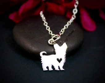 Yorkie Necklace | Yorkshire Terrier Necklace | Yorkie Jewelry | Sterling Silver | Terrier Necklace | Tiny Dog Necklace | Gift for Her