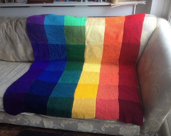 Rainbow Patchwork Blanket