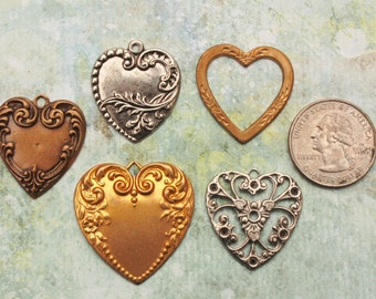 Brass Stamping Heart Shaped Pick the one you want