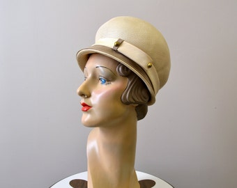 1960s Kutz Cream Straw Hat