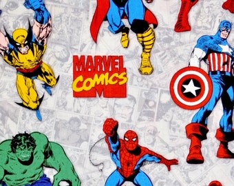 Super heroes fabric, Marvel comics fabric, 100% cotton fabric for Quilting and general sewing projects