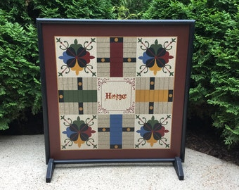 """19"""", Parcheesi, Game Board, Folk Art, Wood, Wooden, Primitive, Game Boards, Board Game, Hand Painted"""