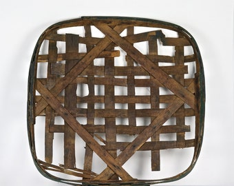 Tobacco Basket, Vintage Tobacco Basket, Old Tobacco Basket, XXL Tobacco Basket