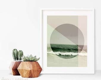 geometric ocean art, geometric beach art, graphic design, photography, beach photography, beach art, ocean art, california, california art
