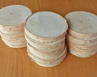 16 Natural and Rustic Wood Rounds for Ornaments, Crafts, Weddings and Other Events