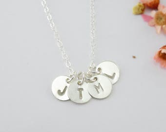 Personalized Gift For Women Initial Necklace 14k Gold Sterling Silver Friendship Necklace Holiday Gift Jewelry Initial Jewelry Gift for Her
