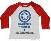 Big Brother Shirts - Custom Superhero Sibling Tshirt - Personalized Pregnancy Announcment - Superhero Super Brother Baby Announcement Shirt