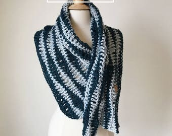 Every Wave Wrap Crochet Pattern, Crochet Scarf Cowl Pattern, Instant PDF Download