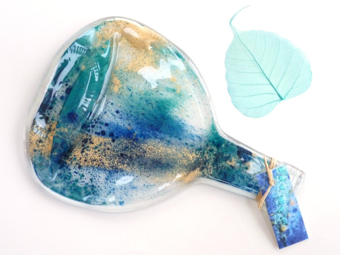 Flat bottle spoon rest melted recycled bottles by kilnfiredart - How do you melt glass bottles ...