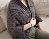 Crochet PATTERN(29) Heartland shrug sweater, women cocoon shrug, women cardigan, pullover, DIY, Instant download