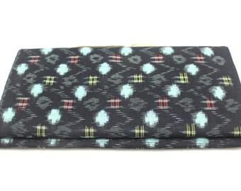 Japanese Vintage Kasuri Ikat. Woven Indigo Cotton Bolt. Traditional Folk Fabric. Bingo (Ref: 1783)