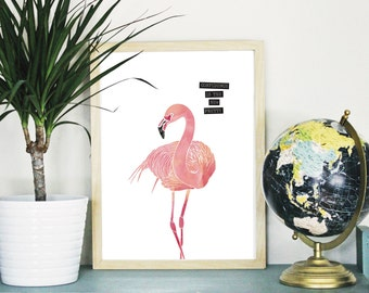 Confidence with a touch of watercolor {Flamingo OR Pineapple}  *FREE domestic SHIPPING*