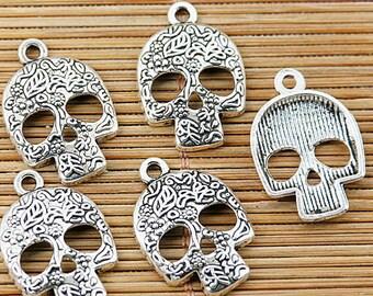 6 Sugar Skull Charms, Skull Charms, Skulls,