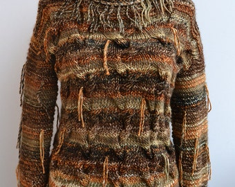 Brown sweater, loose knit,warm winter sweater  loose knit sweater READY TO SHIP!
