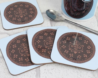 Classic Biscuit Coaster - Happy Oreo Cookie Coaster