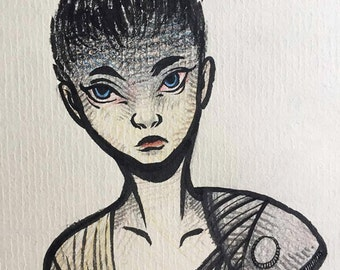 Furiosa, Mad Max - OOAK Illustration Sketchbook Page