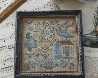 10% OFF Pre-order NEW The Light Upon the Lawn Loose Feathers For the Birds series #2 Blackbird Designs cross stitch pattern quaker prims