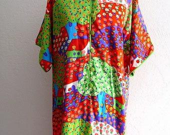 Vintage Printed  LOUNGE DRESS