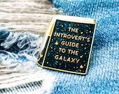 The Introvert's Guide to the Galaxy ~ Glittery Purrfect Pin