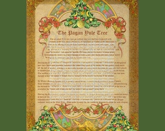 The PAGAN YULE TREE, Book of Shadows, Winter Solstice, Digital Download, Grimoire, Magick Spell, Christmas, Pagan, Wicca