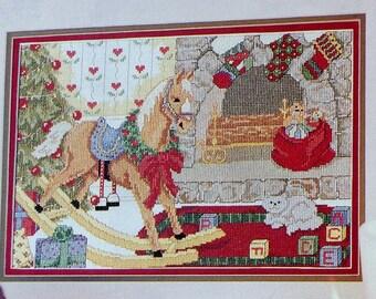 Counted Cross Stitch Pattern   ROCKING HORSE CHRISTMAS   Michele Johnson   fam