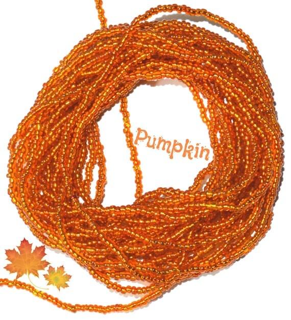 Pumpkin ~ Waist Beads ~ YourWaistBeads.com