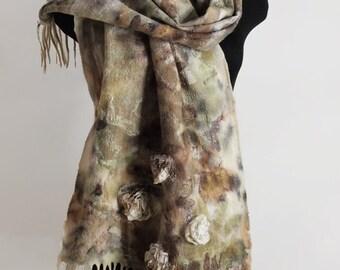 "Wrap eco boho handmade felted ""Diana"" (wraps eco-friendly boho-chic handmade felted buy)"