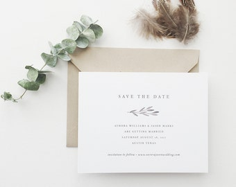 Aurora Watercolor Wedding Save the Date - Sample