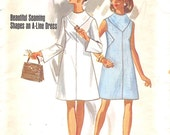 Butterick 5301, size 14, true vintage, 1960s, one piece dress, uncut, factory folded