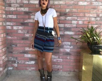VTG 90's Deadstock Serape Stripe Frontier Wrap Skirt XS/S