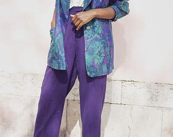 80's Vintage Brocade Weave Blazer