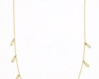 Ethiopian Opal Heart Chakra Necklace - 14K Gold Filled, Fine Bohemian Jewelry Layering Boho, Gemstone, Healing Crystal Handmade Fancy Big
